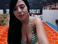 Pamela Loves Webcam Showing Off Her Back Side!!