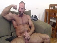 American Mature Muscle Model Jerks Dick