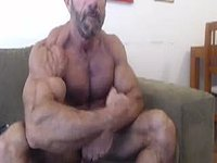 Mature Muscle Guy Flexing
