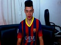 Stripping and Jerking Off in Fcbarcelona Soccer Kit