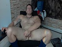 Jerking of on Slaves Face