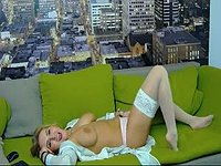 Alice Stripteases on Her Couch