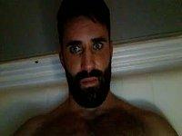 Hairy Levi Strokes His Cock
