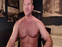 Muscular Brent Sterling Jerking Off and Cumming!