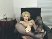 Sikly Stockings Footjob, Stiletto Heels