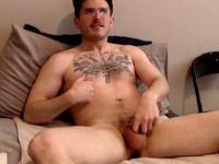 American Model Dann Plays with His Dick