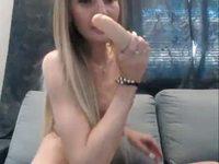 Sally Marie Uses Her Dildo