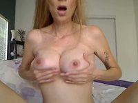 Mindy Fondles Her Breasts and More!
