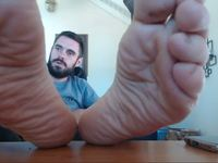Alpha Webcam Shows His Big Feet and Talks Down to You