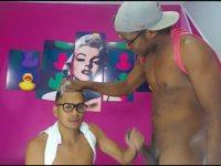Danny Barr & Santy Gonz Private Webcam Show