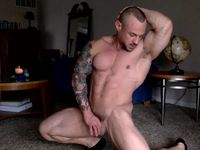 Peter Russell Flexing Webcam Show