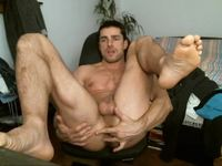Hot Naked Man Plays with Himself