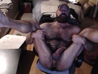 Cal Reynolds Private Webcam Show - Webcam Showing Off My Furry Ass