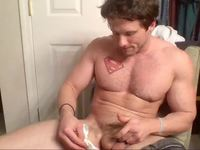 Cute College Guy Strokes While On The Phone