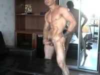 More Naked Muscle Flexing by Steve