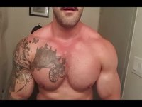 Pumped Up Hairy Pecs