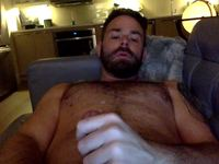 American Performer Strokes Cock and Cums