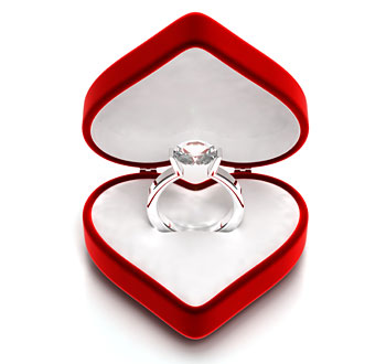 Diamond Ring in Heart Box
