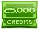 25,000 Credit Interactive Paid Show Tip