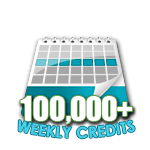 100,000 Credits in a Week