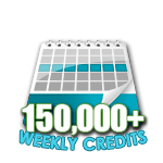 150,000 Credits in a Week