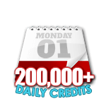 200,000 Credits in a Day