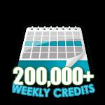 200,000 Credits in a Week