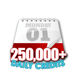 250,000 Credits in a Day