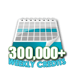 300,000 Credits in a Week