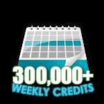 300,000 Credits in a Week