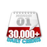 30,000 Credits in a Day