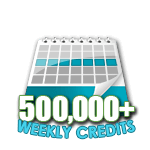 500,000 Credits in a Week