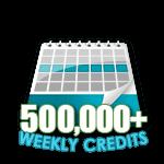 500,000 Credits in a Week