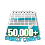 50,000 Credits in a Week