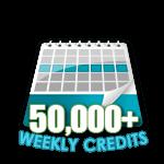 50,000 Credits in a Week