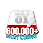 600,000 Credits in a Day