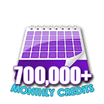 700,000 Credits in a Month