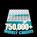 750,000 Credits in a Week
