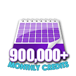 900,000 Credits in a Month