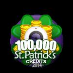 St Patricks 100,000 Credits
