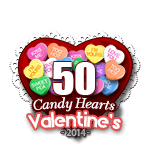 50 Candy Hearts