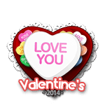 Love You Candy Heart