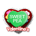 Sweet Pea Candy Heart
