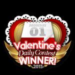 Valentines 2015 Daily Winner