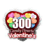 300 Candy Hearts