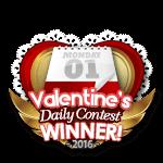 Valentines 2016 Daily Winner