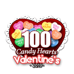 100 Candy Hearts