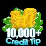 10,000 - 14,999 Credit Tip