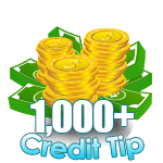 1,000 - 4,999 Credit Tip