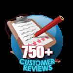 750 Customer Reviews